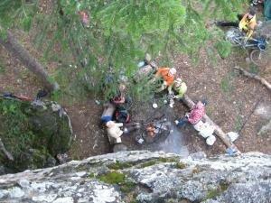Наш лагерь, вид сверху