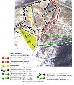 Схема трасс Аджигардак