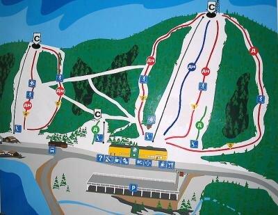 гора Пильная схема трасс