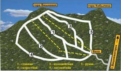гора Вишневая схема трасс
